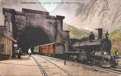 Tunnelportal in Göschenen, ungelaufen