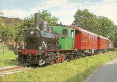 Lok E 3/3 5 + B3 3 + 4 am 30. 8. 1987 bei Triengen