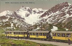 Berninabahn mit Pi Palü, ungelaufen