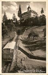 Bad-Hotel + Kurhaus mit Drahtseilbahn