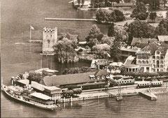 Alter Bahnhof Stansstad mit DS Unterwalden um 1940