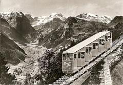 Blick auf Linthal, gestempelt 5. 8. 1967