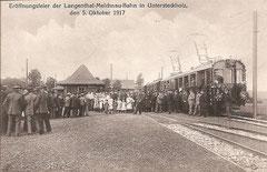 Eröffnungsfeier der Langenthal-Melchnau-Bahn in Untersteckholz, 5. 10. 1917