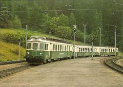 3-teiliger Pendelzug der SOB (BDe 4/4 + B + ABt), Baujahr 1966