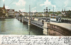 Die Seebrücke, gestempelt 18. Mai 1904
