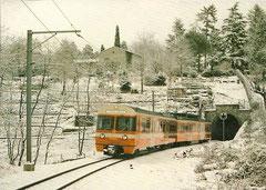 """Be 4/8 25 """"Ceresio"""" bei Lugano am 13. 1. 1980"""