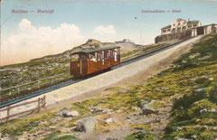 Drahtseilbahn vor der Bergstation, gelaufen 18. 7. 1928