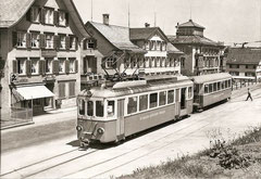 TB BDe 4/4 7 mit B 16 in Trogen, 1962