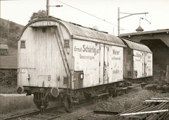 Kühlwagen P 596 131-132 der Grossmetzgerei Schärlig