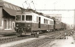 CFe 4/4 148 hier als BDe 4/4 291 am 19. 5. 1973 in Gerlafingen