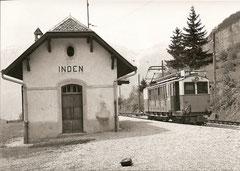 Zwischenstation Inden mit ABFeh 2/4 10 als Zug 112 am 7. 6. 1965