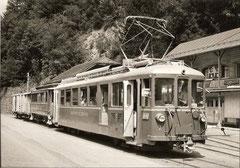 BDe 4/7 + B2 13 + K 31 + 36 in Schwanden am 21. 7. 1967