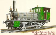 Erste Lokomotive der Bischofszeller-Bahn erbaut 1876