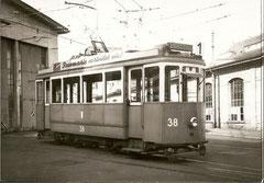 Ce 2/2 38 im Depothof am 13. 11. 1961