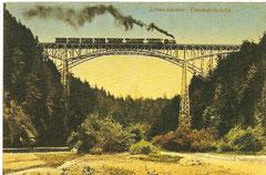 Schwarzwasserbrücke mit Dampfzug und einer Ed 3/4 Lokomotive um 1920