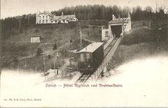 Drahtseilbahn und Hotel Rigiblick