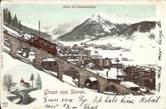 Davos mit Schatzalpbahn, gelaufen 19. 6. 1901