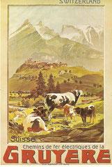 Plakat für die Chemins de fer de la Gruyère, 1906