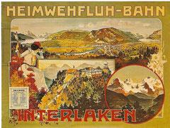 Plakat der Heimwehfluhbahn von 1900