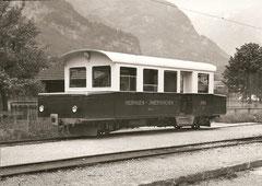 Akku-Triebwagen 4 am 7. 6. 1959 in Meiringen