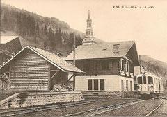 Bahnhof Val d'Illiez um 1909
