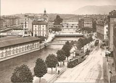 Genf, quai des Postes um 1900
