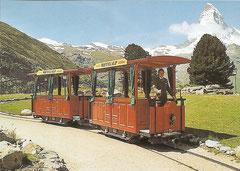 Bahn nach der Wiedereröffnung Personentriebwagen  Ba 1/2 + 2 am 14. 7. 2004
