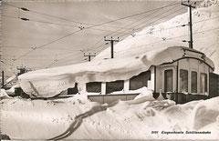 eingeschneite Schöllenenbahn, um 1930