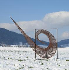 Swing / 2007 / 350 x 20 x 200 cm / Eisenprofil / Auftrag