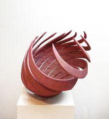 Loslassen / 2017 / 55 x 45 x 48 cm / Eschenholz geflammt, Oelfarbe