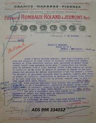 MESNIL (Mesnil-Martinsart) Devis Ets ROMBAUX-ROLAND