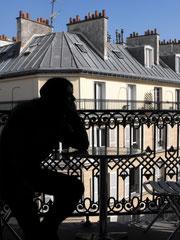 Mon fiancé, balcon à Montmartre