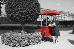 Vendeur de glaces, aux Tuileries