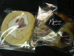 週1回長野県庁にご出店されているお友だち「まどや」さんの紅玉スイーツたち。ロールケーキとアップルパイ