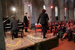 Concert de Printemps 2013 > Violoncelle : Raphaël Merlin, Violon : Pierre Fouchenneret, Piano : Simon Zaoui © François Bigot