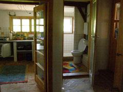 Ferienwohnung Eingang Küche und Bad