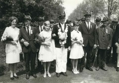v.l. Mechthild Hessing, Franz Bäing, Hildegard Beving, Bernhard Hessing, Johanna Beving und Georg Hessing