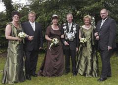 Renate Drees, Werner Drees, Maria Kemper, König Alfred Sicking, Margret Sicking, Johannes Kemper