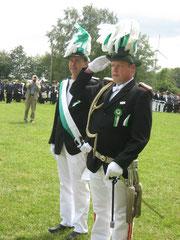 Meldung vom Major an den Oberst.