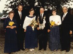 Josefa Schröer-Hörnemann, Johannes Ening, Maria Schültingkemper, König Hermann Schröer-Hörnemann, Hildegard Ening, Josef Schültingkemper