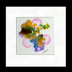 Splash & bubbles - encre & aquarelle sur papier (collection privée) ©B.Dupuis