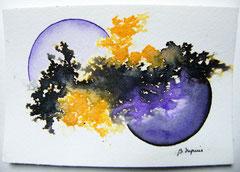 Splash & bubbles - encre & aquarelle sur papier ©B.Dupuis