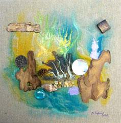 Hidden (encre sur toile 20x20 cm - vendu) - © B. Dupuis