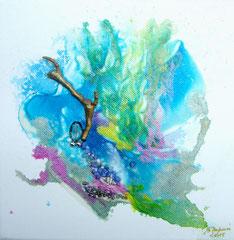 La conteuse (encre sur toile 20x20 cm - 40€) - © B. Dupuis