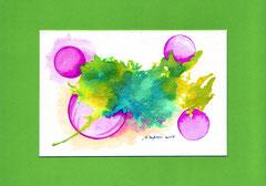 Splash & bubbles - encre & aquarelle sur papier (18x24cm - 30€)  ©B.Dupuis