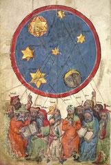 """Die zwölf """"Meister"""" unter dem Planetenhimmel,1370"""
