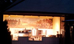die Küche des Restaurants (leider ist das Bild nicht scharf)