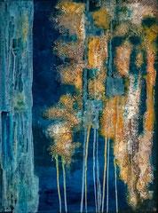 Bleus d'ocre Acrylique sur toile 70x90cm 2016