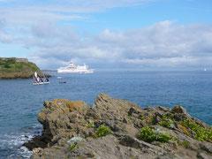 """Le """"Bretagne"""" quitte St Malo pour Porsmouth"""