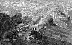 Vue de la sépulture des Ming
